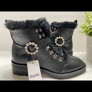 NEW Nanette Lenore Imane Faux Fur Womens Boots 8